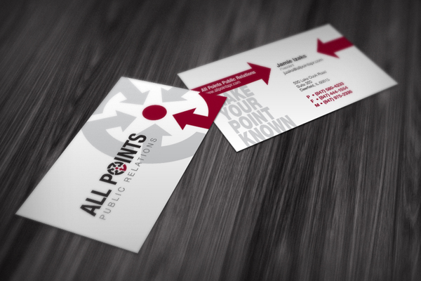 PR Firm Logo and Business Cards